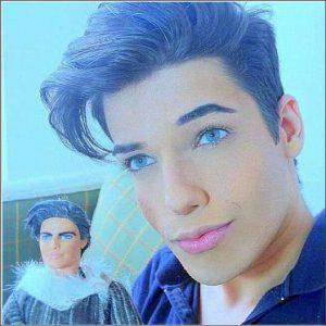バービー人形に憧れる男